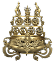 Brass Antique Finish Urli Ashtalakshmi