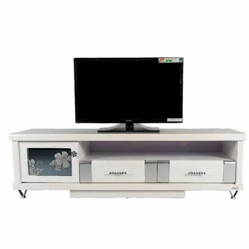 White Mdf,Wooden Wooden TV Unit Stand, For Home