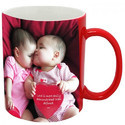 Printed Coffee Mug -Red