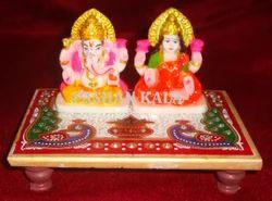 Laxmi Ganesh Marble Chowki