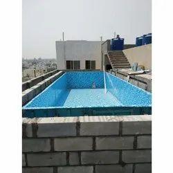 Blue FRP Readymade Swimming Pool