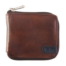 Antique Brown Genuine Leather Mens Leather Brown Wallet, Size: Standard