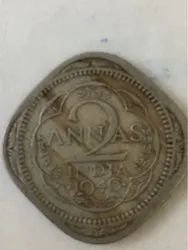 2 Anna Coin Georg king emperor 1946