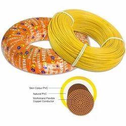 PVC 2 Core Cable Havells Cable-4-sqmm, Temperature Range: 110 Digree