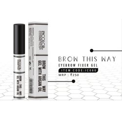 Black Incolor Eyebrow Fixer Gel, Liquid, Packaging Size: 10 Ml