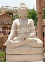 Outdoor Marble Buddha Statue