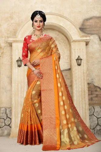 8bd5eadc71 Women Fancy Cotton Saree, Length: 6 M, Rs 550 /piece, PMV Creation ...
