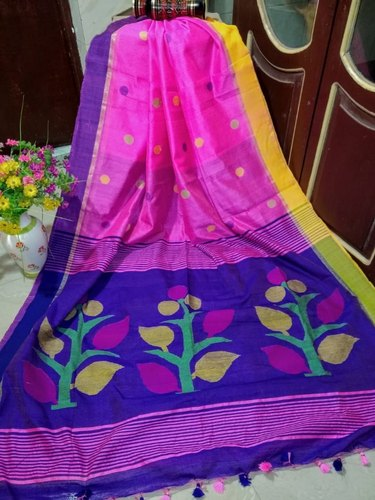 Casual Handloom Sarees With Blouse Piece