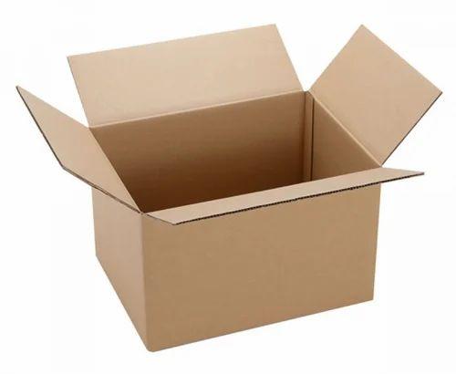 3,5,7 Ply Cardboard Rectangular Corrugated Box, Rs 45 /kg | ID: 14832280462