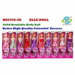Non Toxic Colorful Dresses Barbie Baby Doll, Packaging Type: Box
