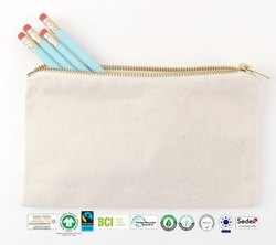 Fair Trade Organic Cotton Cosmetic Bag