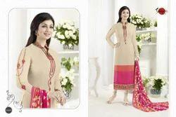 Fancy Crepe Silky Salwar Suit Fabric