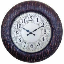 Analog Wooden Wall Clock, Shape: Round