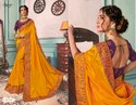 Designer Ethnic Yellow Silk Sarees