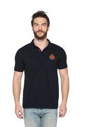 Fashionable Men Solid Polo Collar T-Shirt