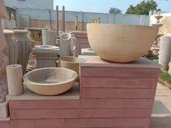 Teak Sandstone Bowl