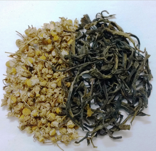 50 Gm Organic Chamomile Green Tea - 50 Grams