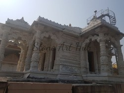 White Marble Temple Construction