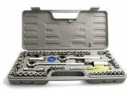Awraaq 52pcs Hand Tools Ratchet Socket Set Tool Box Spanner Set Diy Wrench Set
