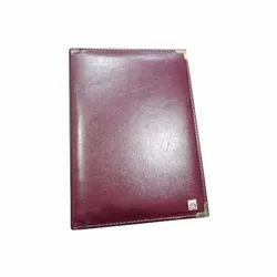 Leather A5 Menu Folder for Restaurant, Packaging Type: Box