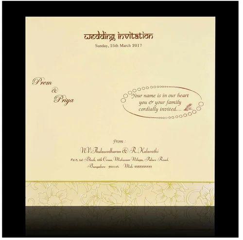 Colorful cut ganesha cream flower wedding card designer wedding colorful cut ganesha cream flower wedding card stopboris Image collections
