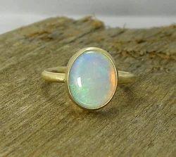 Opal Natural Panchdhatu Ring