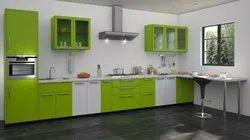 Stainless Steel Small Straight Line Modular Kitchen