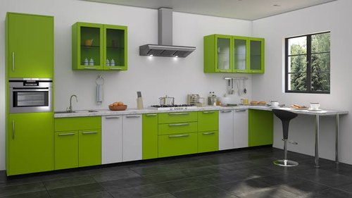 Stainless Steel Small Straight Line Modular Kitchen Rs 1200 Square Feet Id 20697398655