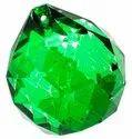 Kesar Zems Glass Crystal Ball with Thread (3 cm x 3 cm x 3, Clear)