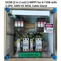 Solar DCDB (2 in 2 out) for 4 kW-7.5 kW with DC SPD, DC MCB