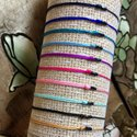 Handmade Black Multi Strand String Glass Beads Bangles Seed Beaded Bracelet