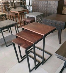 Industrial Furniture C Table Set Of 3, Size: 3 Standerd Size, For Side Table