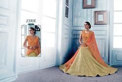 GAJIWALA MYRAH SERIES 1839-1845 STYLISH PARTY WEAR LYCRA LEHENGA