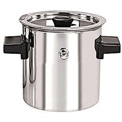 Silver Steel Milk Cooker, For Home