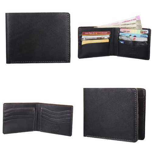 b4ee8cac8 Black Bifold Leather Wallet