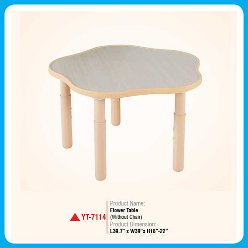 "Plastic Rectangular Flower Table, Size: L39.7""x W39""x H18""-22"""