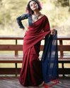Mulmul Cotton Plain Sarees