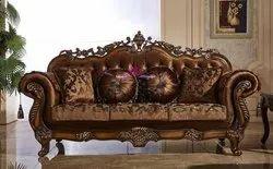 A.m international Wooden living room sofa set, Cushion Back, Size: Standard