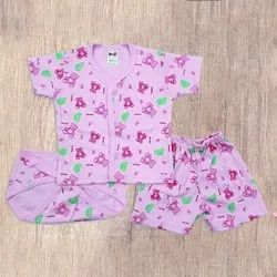 Casual Wear Pink Born Baby Dress, Age Group: 0-1yr