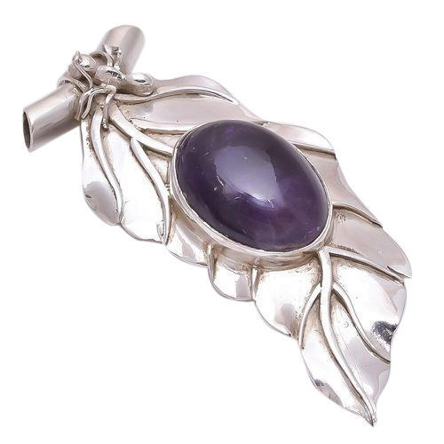 Purple amethyst 925 sterling silver pendant rs 1500 piece id purple amethyst 925 sterling silver pendant aloadofball Image collections