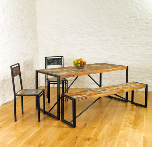 Dinning Table Reclaimed Wood Top Dining Table With Metalbase White Dining Table Black Dining Table ड इन ग ट बल Kraft Tree Jodhpur Id 15449752188