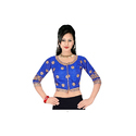Blue Printed Ladies Blouse M-15
