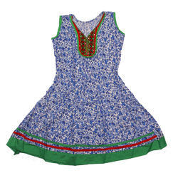 Cotton Anarkali Women's Sleeveless Kurti