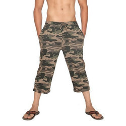 Men's Army Printed Capri