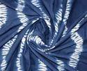 Blue Tie Dye Voile Fabric