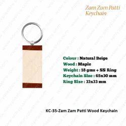 Wooden KeyChain-KC-35-Zam zam Patti