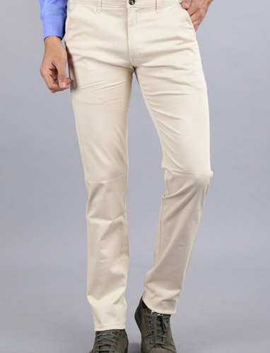 Men Cream Trousers