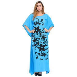 Cottinfab Printed Long Night Dress