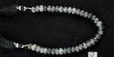 Black Rutile Quartz Roundel Faceted Beads