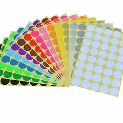 Multi Color Self Adhesive Sticker
